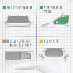 Magnet-Außenisolierung Volkswagen T5 Seitenscheibe Cockpit Fahrerseite