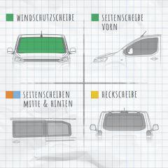 Magnet-Außenisolierung Mercedes Sprinter 906 und VW Crafter 1 Windschutzscheibe (2006-2018)