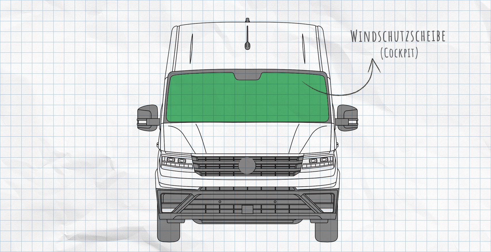 VW Crafter ab 2017 Thermomatten Frontscheibe