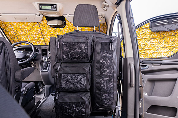 Klett-Taschensystem für Ford Transit/Tourneo Custom