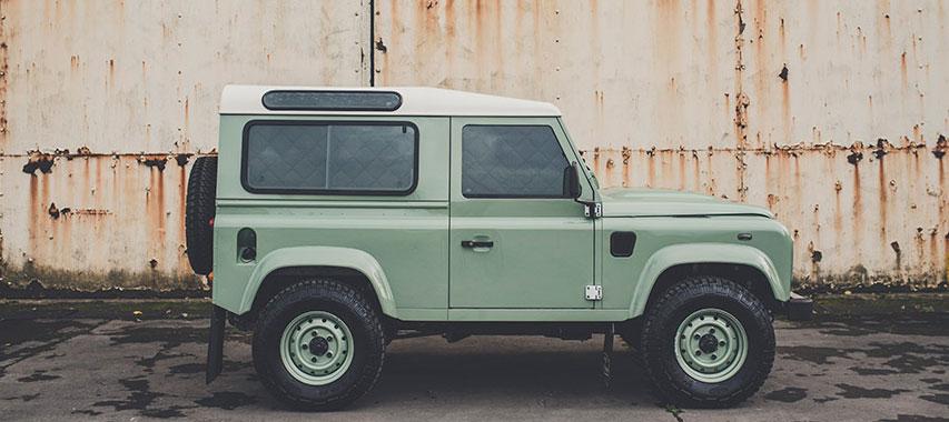 Magnet-Verdunklungen Land Rover Defender Außenansicht