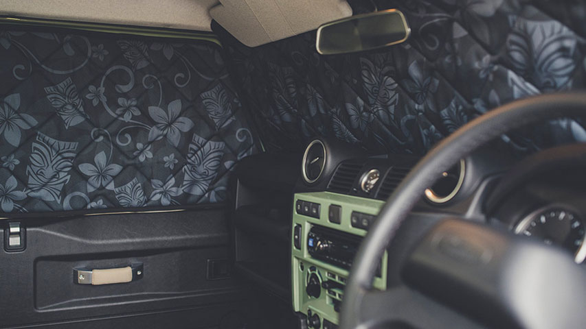 Magnet-Verdunklungen Land Rover Defender Innenraum