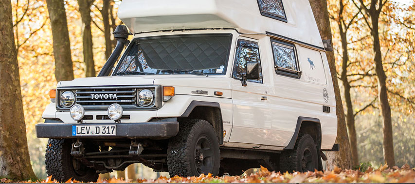 Magnet-Verdunklungen Toyota Land Cruiser Außenansicht