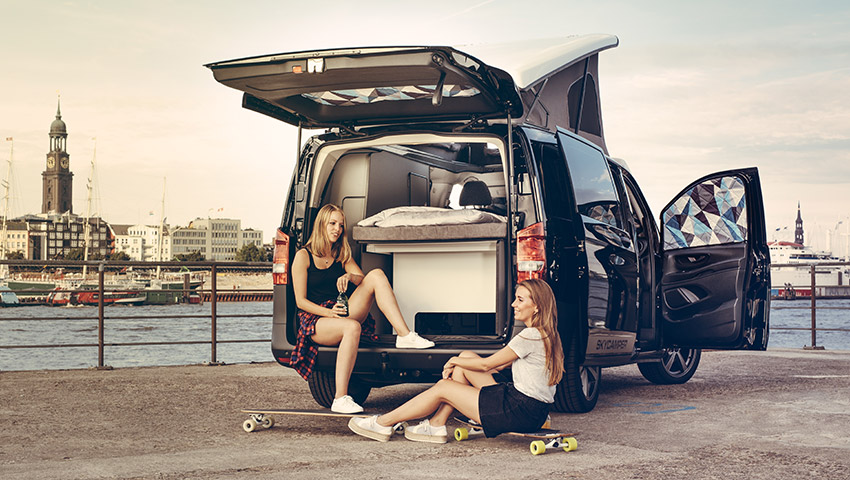 Project Camper Isomatten Mercedes Vito Heckklappe